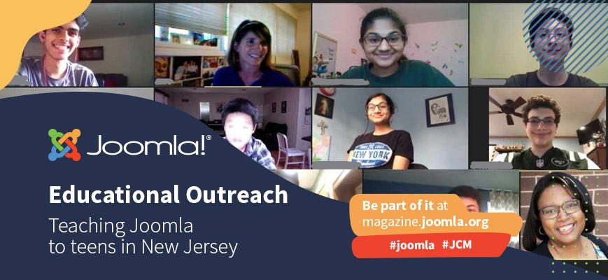 Teaching Joomla to teens in New Jersey - Covid-19